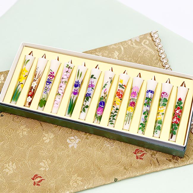 絵ローソク 四季の花